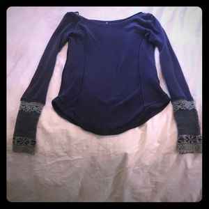 Free people purple top, size small